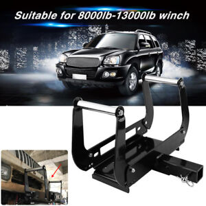 Recovery Winch Mounting Plate Cradle Mount For 2 Hitch Receiver 4wd Suv Tool