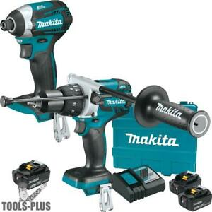 Makita Xt268t 18v Lxt Li ion Brushless 2pc Combo Kit W 2 5ah 1 6ah Batt New