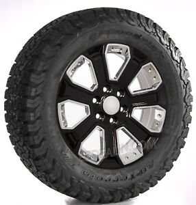Chevy 20 Black With Chrome Wheels Bfg At Tires 2000 18 Silverado Tahoe Suburban