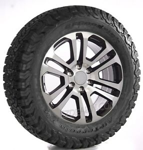 Chevy 20 Black Machine Split Spoke Wheels Bfg Tires Silverado Tahoe Suburban