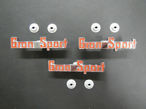 1965 Buick Riviera Gran Sport Fender Trunk Emblem Set Small Badge 65 Gs Early