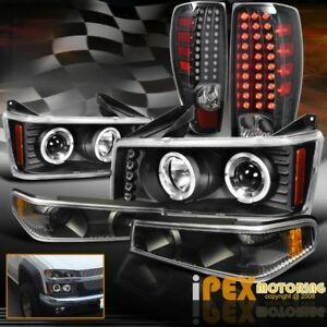 04 12 Chevy Colorado Halo Projector Black Headlights Signals Led Tail Light