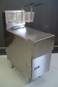 Pitco Sg14 Gas Solstice Deep Fat Fryer Solid State Ignition Thermostatic Control