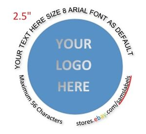 2 1 2 Stickers Custom Labels Personalized Round Tag Envelope Seal Product