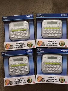 4 Brother P touch Pt d210 Label Maker Compact Printer W Tape New In Box