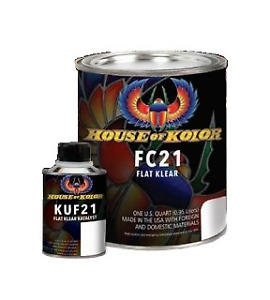 House Of Kolor Fc21q Urethane Flat Klear Quart Kit Hok Fc21q