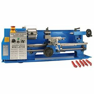 7 X 14 Precision Bench Top Mini Metal Milling Lathe Variable Speed 2500 Rpm