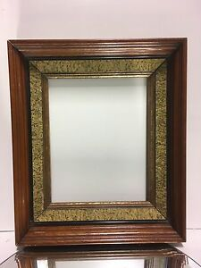 Deep 19th C Victorian Aesthetic Eastlake Incised Gold Gilt Sponge Frame