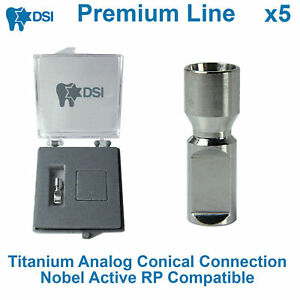 5 X Dental Lab Implant Replica Analog Conical Connection Nobel Active Rp
