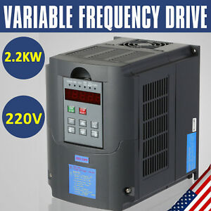 Updated 220v 2 2kw 3hp Variable Frequency Drive Inverter Vfd Vsd