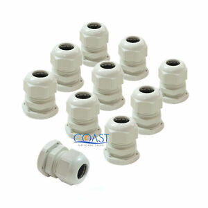 10x Durable Waterproof Uv Resistant White Nylon Connector Grommet 0 71 0 98
