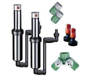 Quick snap In ground 5 inch Pop up Adjustable Sprinkler 2 pack With Quick Hose C
