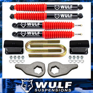 3 Front 3 Rear Lift Kit W Wulf Shocks For 2002 2005 Dodge Ram 1500 4wd