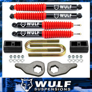3 Front 2 Rear Leveling Lift Shocks Kit 2002 2005 Dodge Ram 1500 4wd 4x4