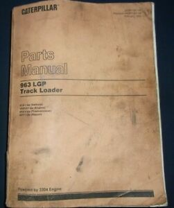 Cat Caterpillar 963 Lgp Track Loader Parts Manual Book S n 21z00001 up