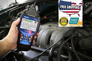 Automotive Code Reader Scan Tool Abs Srs Bluetooth Live Data Vehicles Battery