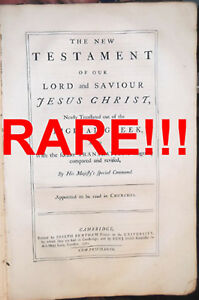1762 Antique 1st Ed Rare 16 Folio Revised Standard King James Bible 1611 1769