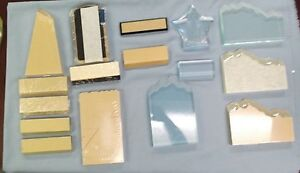 Mixed Lot Of 16 Trophy Parts Acrylic Pieces