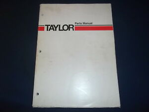 Taylor Thd300s Forklift Parts Manual Book Catalog