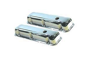 Specialy Chrome 7554 Steel Stock Height Valve Covers Fits Buick V8 Engines