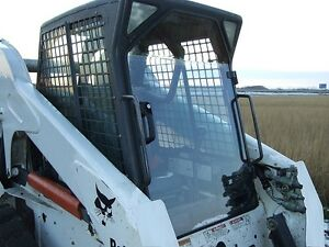 Bobcat T320 1 2 Extreme Duty Demo Forestry Lexan Door sides Skid Stee