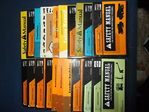 Lot Of 20 Excavator Backhoe Loaders Dozer Trencher Truck Truck Saftey Manuals