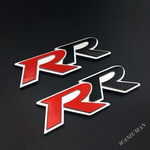 2pcs Metal Rr Car Auto Trunk Lid Rear Emblem Badge Decal Sticker