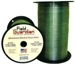 1 2 Mile 14 gauge Aluminum Electric Fence Wire Poultry Livestock Farm Fencing