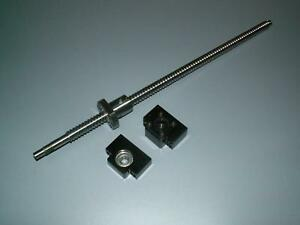 1 Anti Backlash 25mm Ballscrew Rm2510 500mm c7 bk bf15 End Bearing Support Cnc