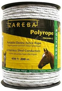 Zareba 200 M Polyrope Portable Electric Fence Rope Farm Horse Fence Fencing