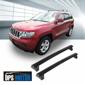 Black Roof Rail Rack X Cross Bar Luggage Carrier For 2011 18 Jeep Grand Cherokee