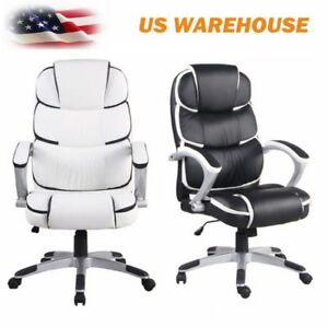New Ergonomic Office Chair Pu Leather High Back Executive Desk Task Swivel Us