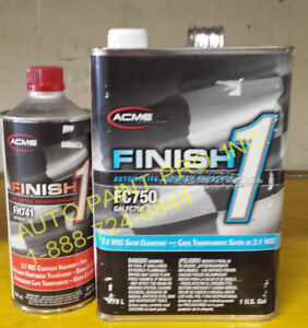Finish1 Fc 750 2 1 Voc Satin Finish Clear Coat Acme Sherwin Williams Auto Paint