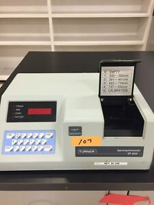 Turner Sp 850 Spectrophotometer Sm110225