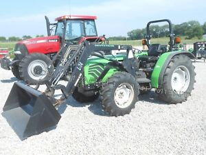 Deutz fahr Agrolux 57 55hp 4wd Tractor W front End Loader 2260 1 Owner Hours