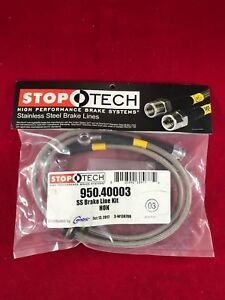 Stoptech Stainless Steel Front Brake Line 02 06 Acura Rsx 02 05 Civic 950 40003
