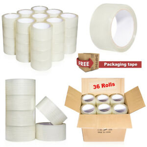 36 Rolls Clear Packing Packaging Carton Sealing Tape 2 0 Mil Thick 2 X 110 Yard