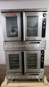 Blodgett Double Stack Convection Ovens Dfg 100 3 Dual Flow Tested Natural Gas