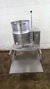 Crown Brand Ec 10 40 Qt Quart Steam Jacketed Kettle Manual Tilt Tested 208 Volt