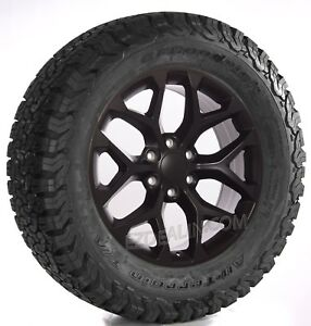 New 20 Satin Black Snowflake Wheels For Chevy Silverado Tahoe With Bfg Tires