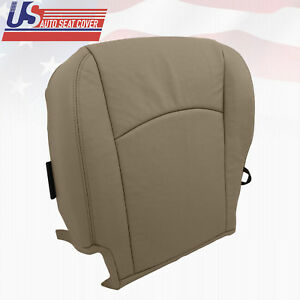 2009 2010 Dodge Ram 1500 Laramie Driver Bottom Leather Perforated Seat Cover Tan