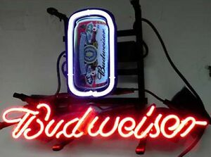 Budweiser Can Neon Sign Displaly Sore Beer Bar Neon Light Sign Real Neon Z081