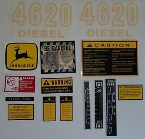 Jd4620 Hood Safety Decal Set For John Deere Tractor 4620