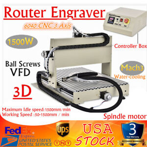 6040 Cnc 3 Axis Router Engraver 1 5kw Desktop Engraving Drilling Milling Machine