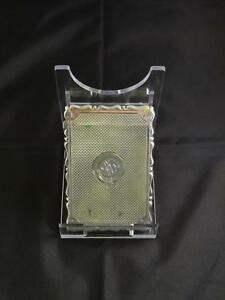 Antique Victorian Silver Card Case Engraved Birmingham George Unite C 1881