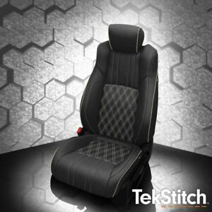 Katzkin Tekstitch Blk Leather Repla Int Seat Cvr Fits 2018 Honda Accord Sedan Ex