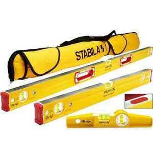 Stabila 48380 96m Magnetic Level Set Kit 48 24 Torpedo And Case New