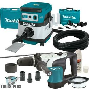 Makita Hr4002 1 9 16 Sds Max Rotary Hammer Kit W hepa Vac Dust Collector New