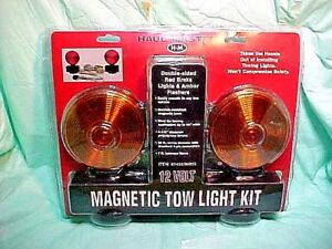 Haul master 12 Volt Magnetic Tow Light Kit Item 96933 New Un Opened Package