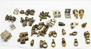 lot Of 55 Pcs Electrical Mechanical Lugs Grounding Clamps Used Nos